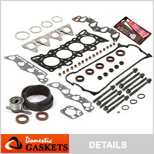 96-00 Honda 1.6L SOHC Head Gasket Set+Bolts & Timing Belt Kit D16Y7 D16Y8 D16Y5