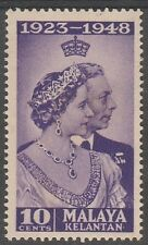 Kelantan 10c Royal Silver Wedding 1948 Mnh # E 110 (stain on reverse)