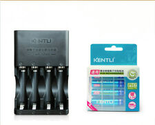 4pc KENTLI 1.5v 1100mWh AAA rechargeable lithium battery + 4 Port AA AAA charger