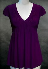 Sexy Ruched Slimming Stretchy Top ~ Purple~XL ~1X~14/16~Plus Size Shirt /Blouse