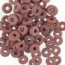 8mm Greek Disk Beads 2.7mm Holes Salmon Pink G87 Disc Rondelle Spacer Ceramic