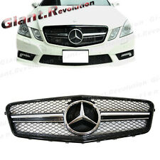 Bright Black Front Vent Grille For M BENZ W212 10-13 E250 E300 E-Sedan 4 Door