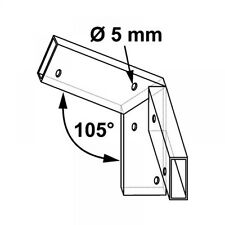 Plug in connector for Wooden slats Roof angle f 105°