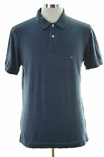 Tommy Hilfiger Mens Polo Shirt XL Navy Blue Cotton Slim Fit