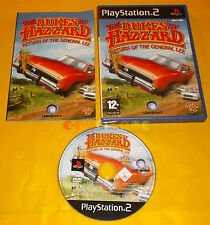 THE DUKES OF HAZZARD RETURN OF GENERAL LEE  PS2 Ver Italiana 1ª Ed ○ COMPLETO A1