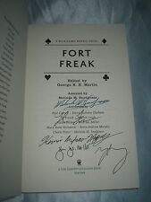 Wild Cards Fort Freak edited George R R Martin Melinda Snodgrass SIGNED x5 2011