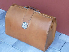 vintage ancien SACOCHE sac CARTABLE en CUIR LEATHER BAG Ledertasche LEDER