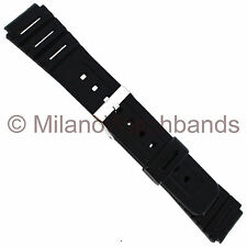 16mm Hirsch Digital Black Rubber Sports Replacement Watch Band BUY 1 GET 1 FREE!
