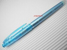 3 x Pilot FriXion 0.4mm Extra Fine Point Erasable Gel Rollerball Pen, Clear Blue