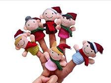 6x Muñecos De Dedo Muñeca Trapo Bebé Juguetes Niños Familia Marioneta Del