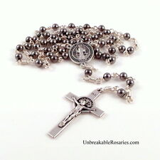 St Benedict Rosary Beads For Men Stainless Steel Beads Unbreakable Rosary Beads