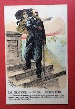 CPA. LA GUERRE N°28. Déroulède. Alsacienne. Revanche. Illustrateur A. de CAUNES.