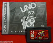 UNO 52 - incl manual - Game Boy Advance