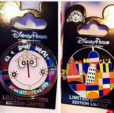 Authentic Disney LE Small World Pin WDW New On Card