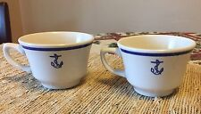 2 Vintage Homer Laughlin Fouled Anchor China US Navy Cups