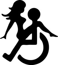 Disabled sex car vinyl sticker decal wheelchair funny novelty humor jdm ford vw