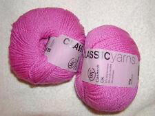 2 SKEINS - ROWAN Classic Yarns - CASHSOFT DK - Color # 530 - FUCHSIA - 248 yards