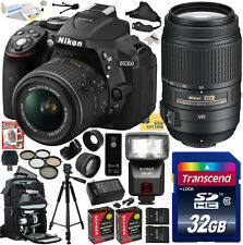 Nikon D5300 18-55 + 55-300 Lens DSLR SLR Digital Camera (Ultimate Bundle Kit)