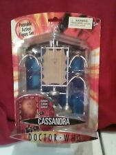 UNDERGROUND TOYS BBC Doctor Who Cassandra & 3 Robot Spiders Action Figures RARE