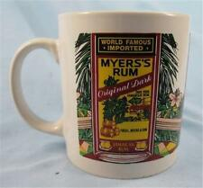 Lovely Myers Rum Mug World Famous Imported Original Dark Tropical Scene Nice (O)