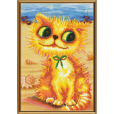 Cross Stitch Kit Goldy at the seaside (cat)