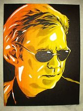 Canvas Painting David Caruso CSI Horatio Caine Dark B&W Art 16x12 inch Acrylic