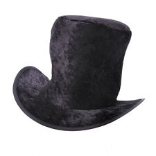 Childrens Black Velvet Top Hat Artful Dodger Mad Hatter Fancy Dress Prop