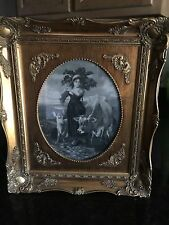 EXQUISITE Antique Gold Gilt Victorian Frame with old picture VERY RARE