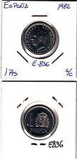 E836 MONEDA ESPAÑA JUAN CARLOS SIN CIRCULAR 1 PESETAS 1982