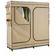 Clothes Closet Storage Solutions Organization Dress Up Garment Rack with Cover
