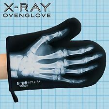 Just Mustard Oven Mitt X Ray Skeleton Glove Gift black/white print cotton