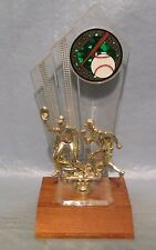 Vintage Gold & Clear BaseBall Trophy Trophies Man Cave Sports Bar Decor