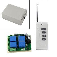 Nuevo DIY 12V 10A 4 Canales Inalámbrico Interruptor Con Mando A Distancia 1000M
