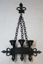 1967 Saxon Metal Wall Hanging Candle Holder Gothic King of Thrones Chains Spears