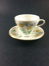 Vintage Tea Cup And Saucer Taylor And Kent Longton England 6736A Floral Pattern