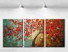 Framed  3p Large Modern hand-painted Art Oil Painting Wall Decor canvas