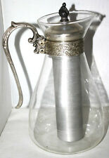 Vintage Ornate Silver Plate & Glass Jug with Ice holder - FREE P&P [PL1158A]