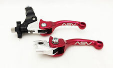 ASV F3 Unbreakable Shorty Red Brake + Clutch Levers Pair Pack CRF 450R / 250R