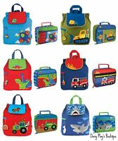 Stephen Joseph Boys Quilted Backpack and Lunch Boxes for Kids - Preschool Bags