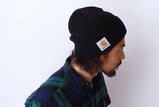 CARHARTT Men's Authentic Watch Hat Knit Beanie Cap Winter Weather Black One Size