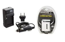 Battery + Charger for Casio EXZ20 EXZ80A EX-Z80PK EXZ85