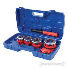 "Silverline 868556 Pipe Threading Kit 5pce 1/2"", 3/4"", 1"" & 1-1/4"""