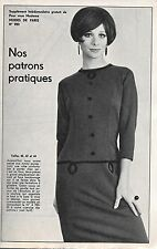 Ancien PATRON couture MODES DE PARIS n° 950/ROBE 2 versions/1967/Vintage