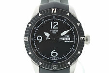 NWOT Men's Tissot T-Navigator Automatic T0624301705700 Black Dial Rubber Watch