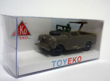 LAND ROVER CORTO MILITAR CON METRALLETA WITH MACHINE GUN 1/87 TOYEKO TOY EKO