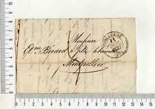 16919) FRANCE 11.12.1837 Taxed Stampless Cover Toulouse