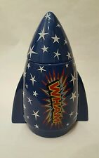 Rare retro Rocket vintage Wham biscuit /cookie / sweet jar collectable 80s.