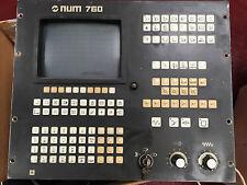 """NUM 760 CONTROL CONTROLLER Selti Monitor 9"""" Mono  SL/VD 10702CGO01 0205202334E"""
