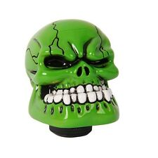 Manual Transmission Gear Shift Knob Shifter Lever Resin Skull Green Unviersal