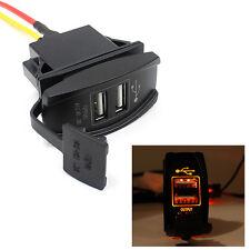 12V 24V Auto Auto Barca Accessorio Arancio LED Doppio caricabatteria USB